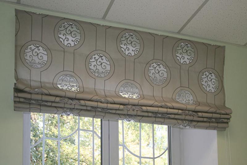 Римские шторы из обоев фото